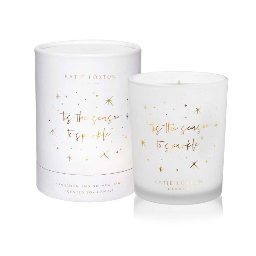 Season To Sparkle White Shimmer Candle