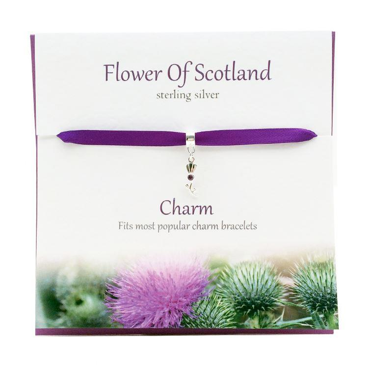 Silver Flower of Scotland Charm