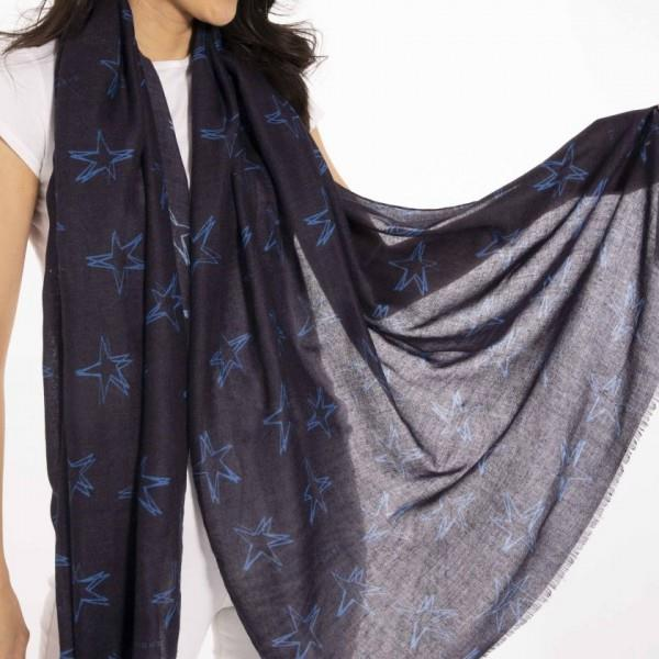 Always Shine Bright Navy Blue Scarf in Gift Box
