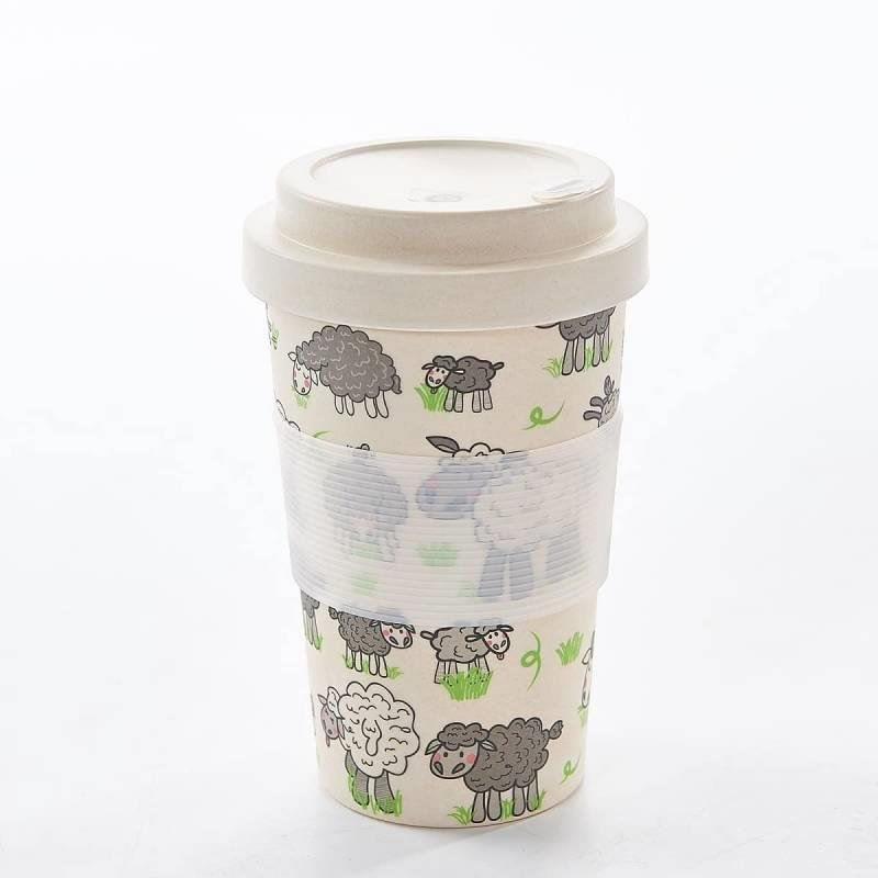 Sheep Design Bamboo Travel Cup