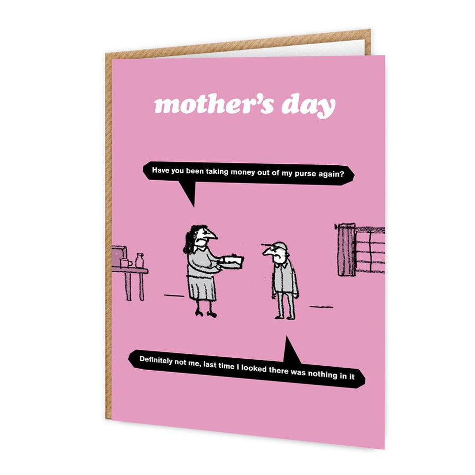 Mother's Day Taking Money Card