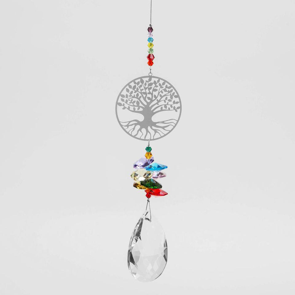 Crystal Tree Metal Hanging Decoration