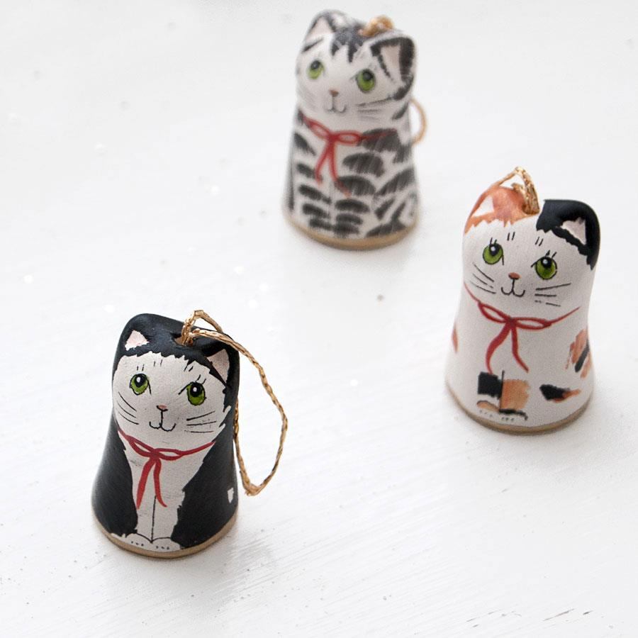 Cat Thimble Ceramic Hanging Decoration