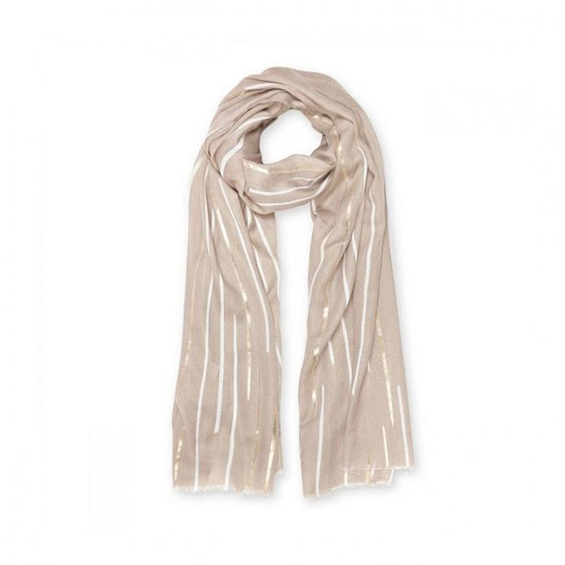 Metallic Sunbeam Natural Scarf