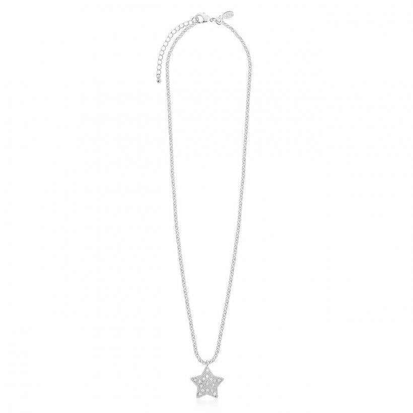 Bella Silver Pave Star Necklace