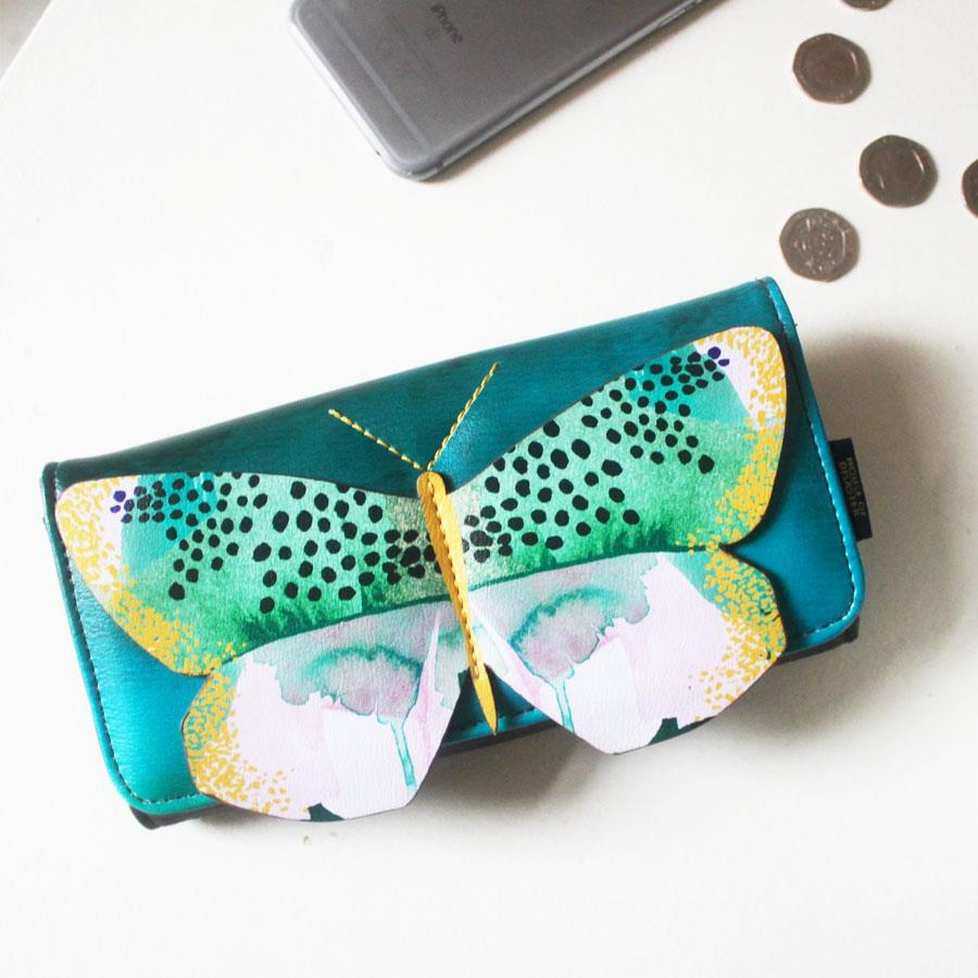 Papillon Watercolour Print Wallet