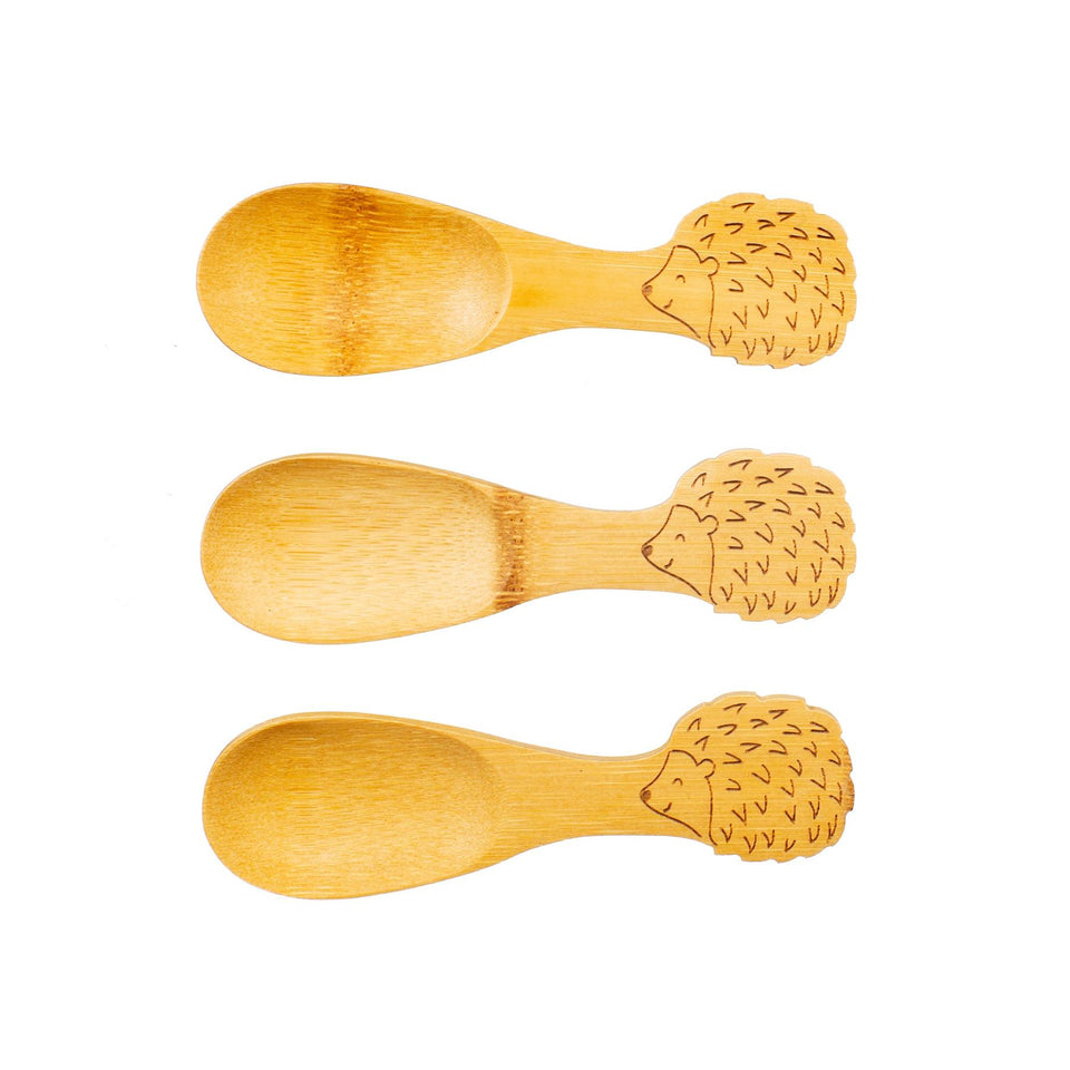 Bamboo Hedgehog Spoons Set