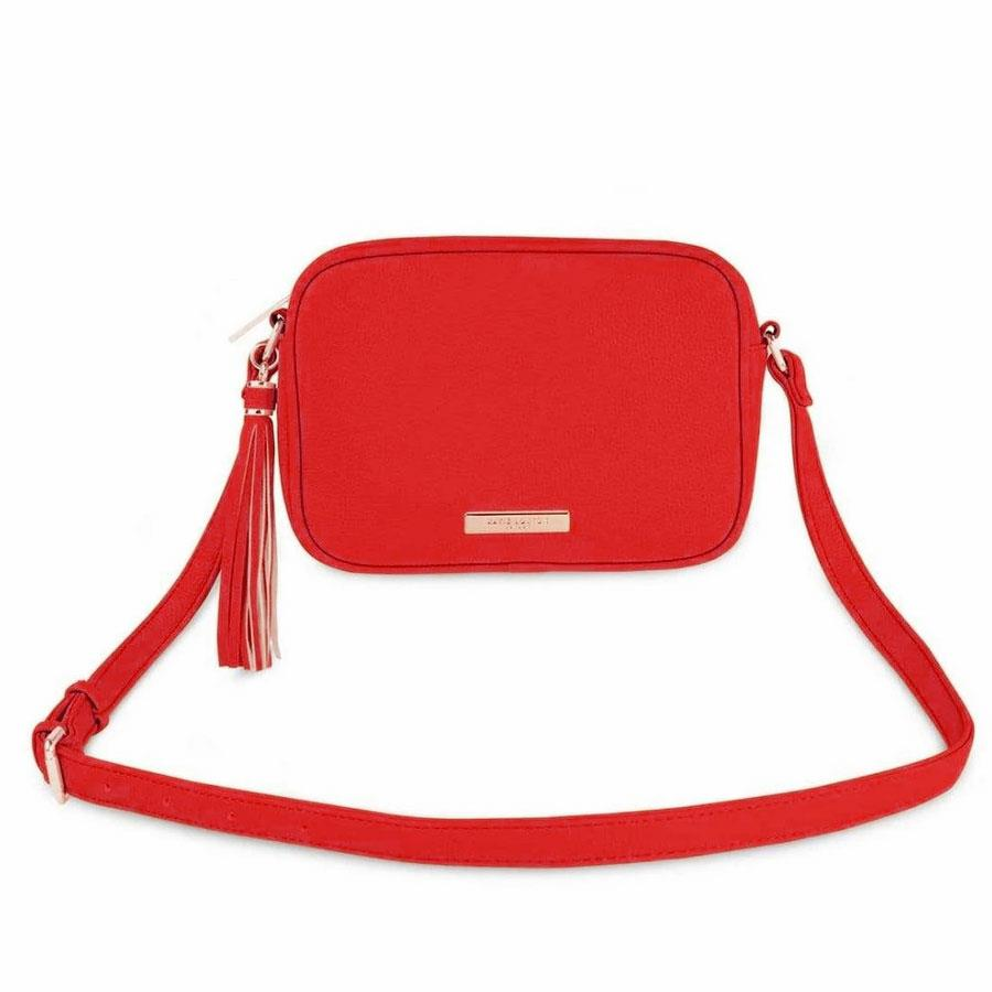 Red Sophia Tassel Cross Body Bag