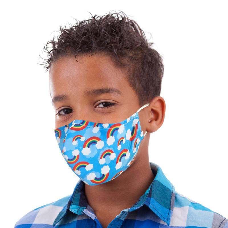 Rainbow Print Kid's Face Mask