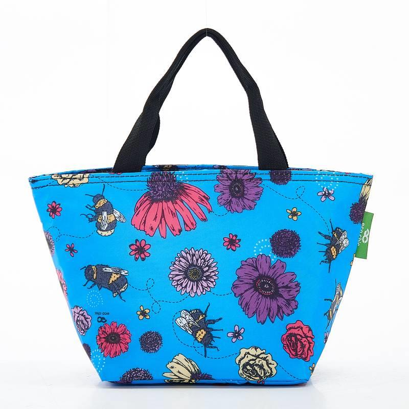 Blue Bee & Flower Lunch Bag