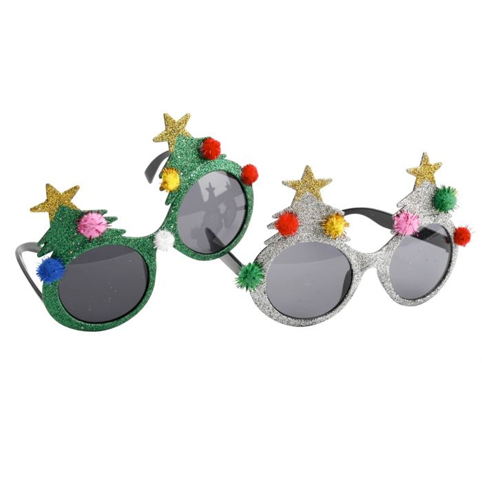 Novelty Christmas Tree Glasses Set
