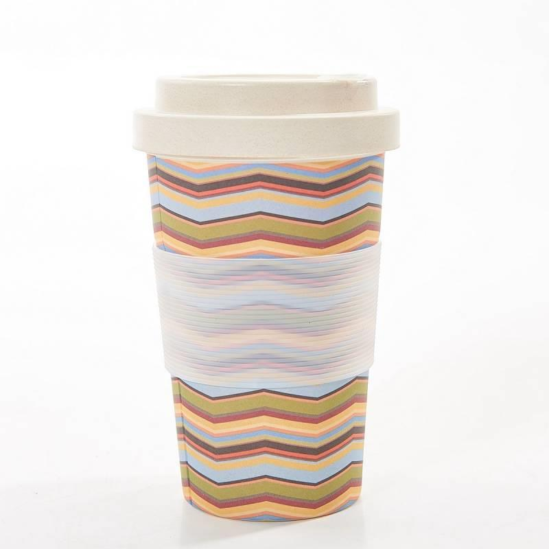 Neutral Zig Zag Bamboo Cup