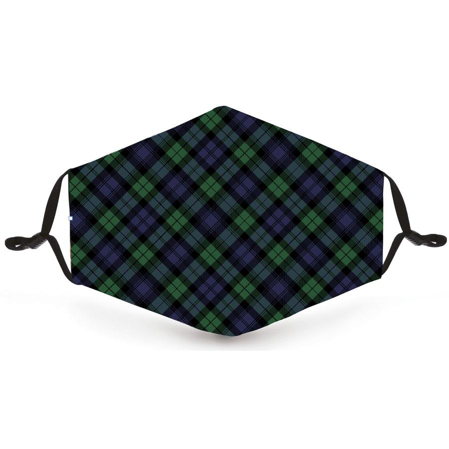 Green & Blue Tartan Pattern Reusable Face Mask