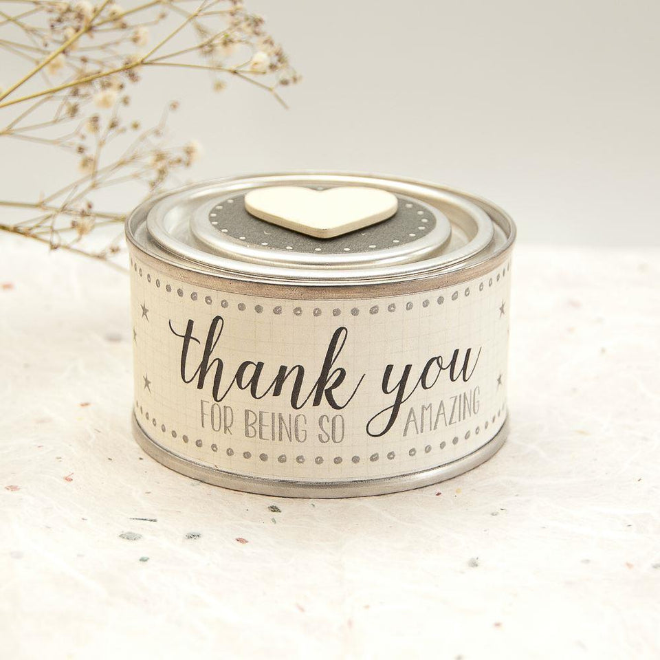 Thank You For Being So Amazing - Scented Candle Tin