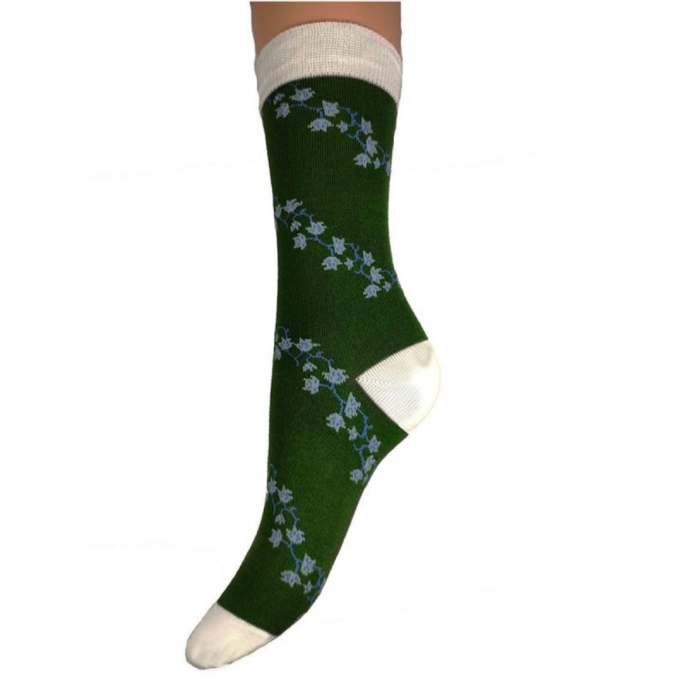 Pretty Flower Bamboo Socks