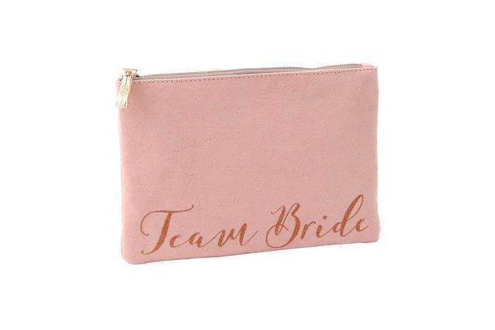 Pink Team Bride Beauty Bag