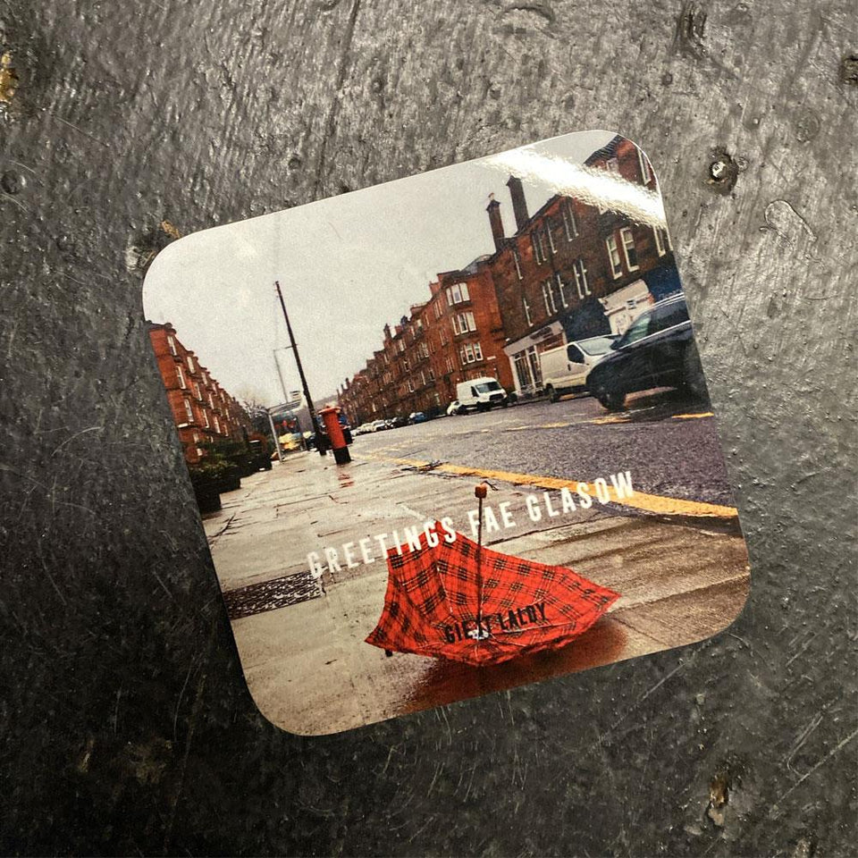 Greetings Fae Glasgow Umbrella Coaster