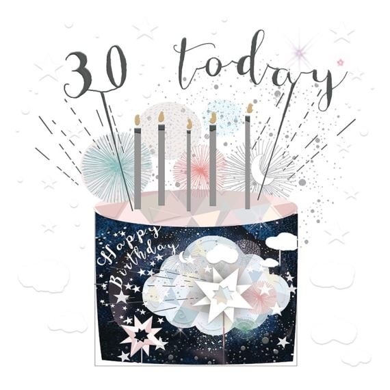 Age 30 Birthday Cake Card