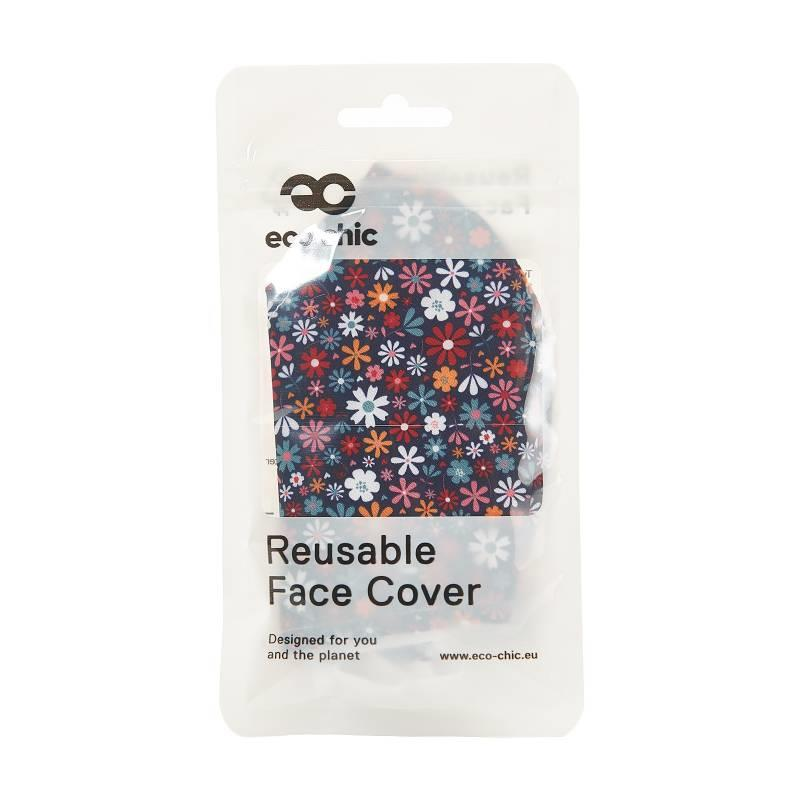 Black Ditsy Floral Reusable Face Cover Mask