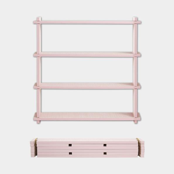 Slot Together Small Pink Shelf
