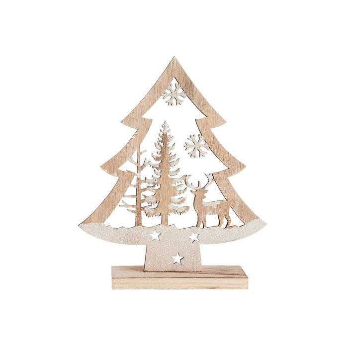 Laser-Cut Glitter Winter Scene Tree