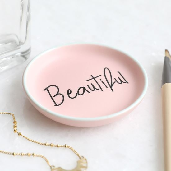 Pink Beautiful Ceramic Trinket Dish