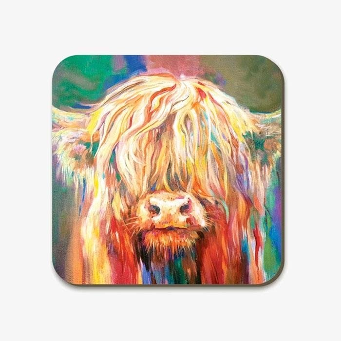 Baby Highland Cow Square Coaster