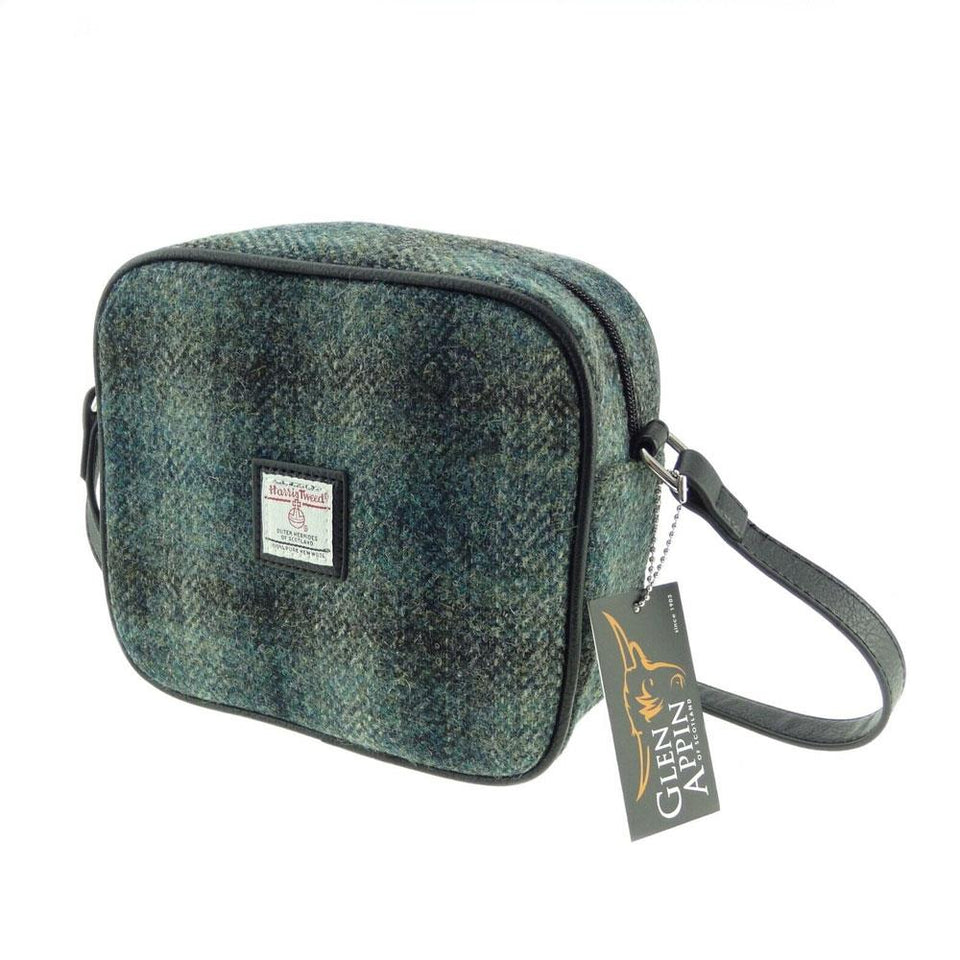 Harris Tweed Moss Green Mini Bag