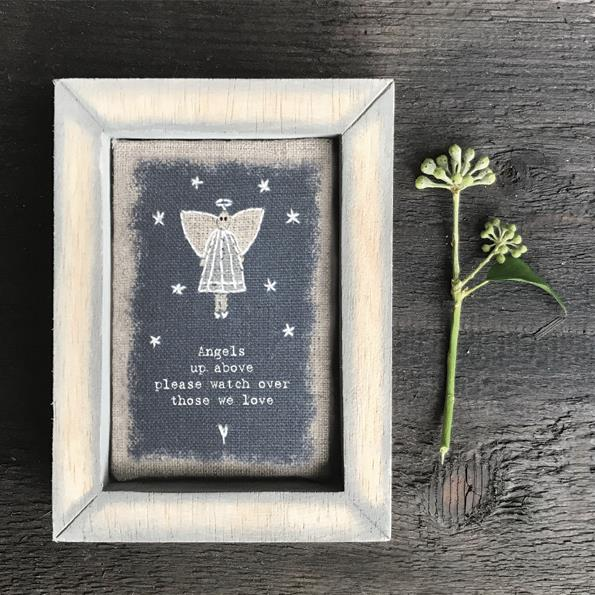 Angels Up Above Embroidered Box Frame Decoration