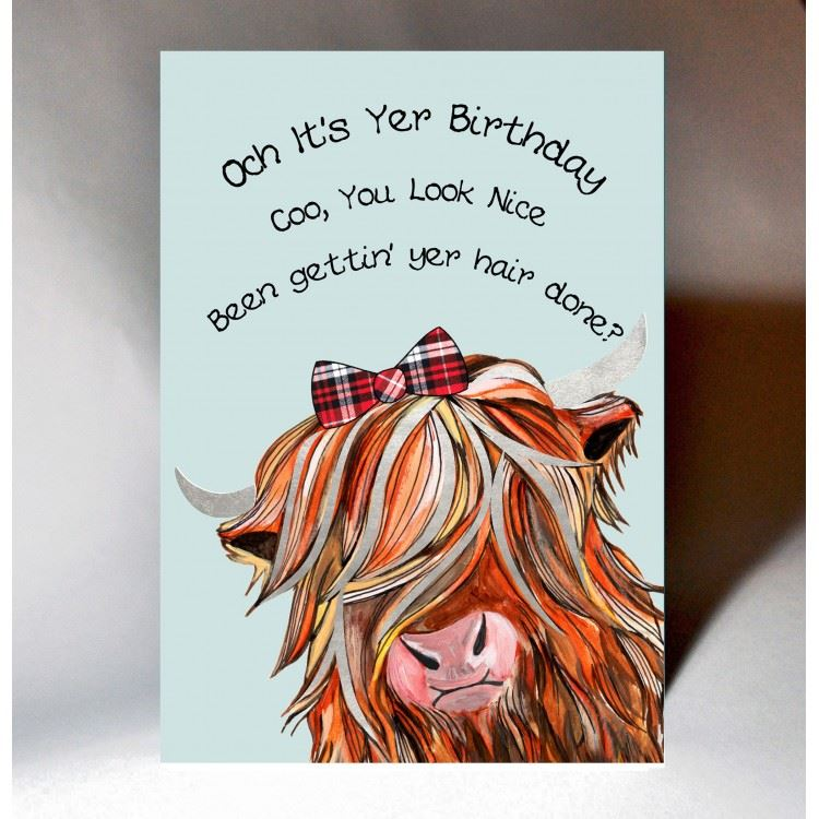 Coo Hairdo Birthday Card