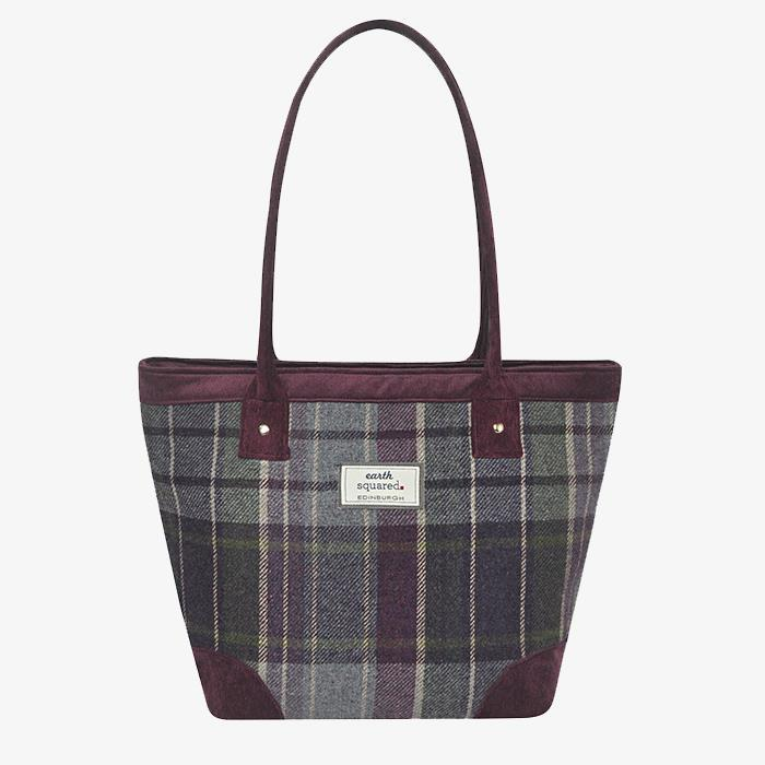 Purple Quartz Tweed Tote Bag