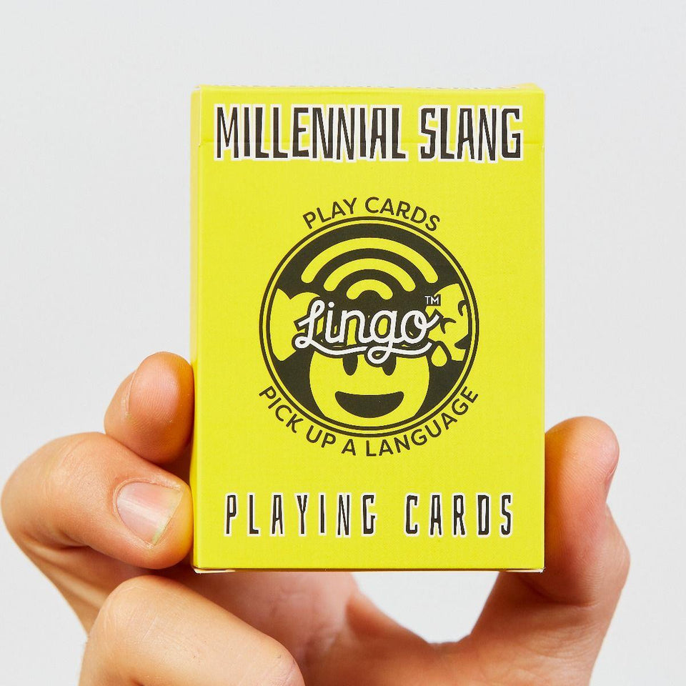 Millennial Slang Lingo Playing Cards