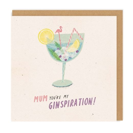 Mum Ginspiration Mum Greeting Card