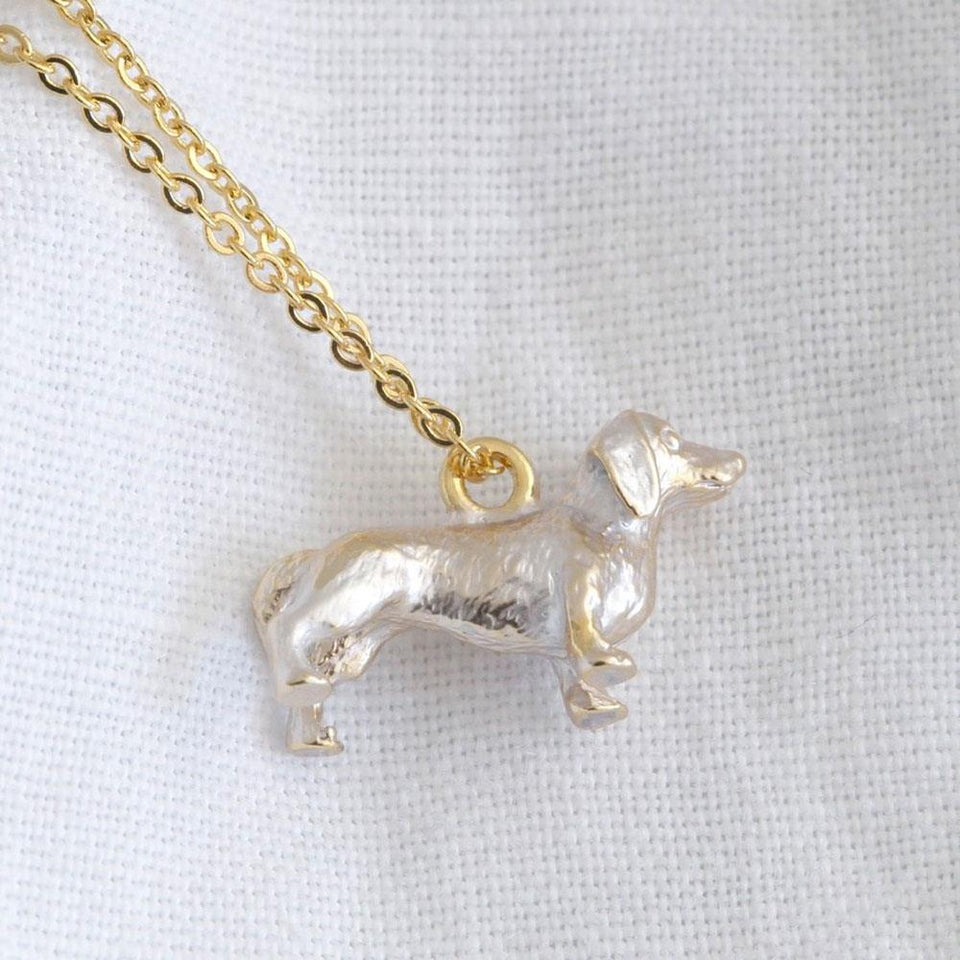 3D Sausage Dog Necklace