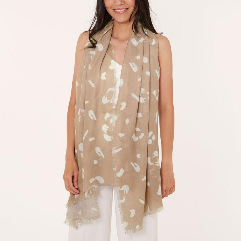 Oh So Chic Taupe Sentiment Scarf