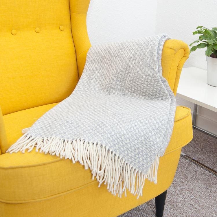 Willow Grey Merino Wool Throw