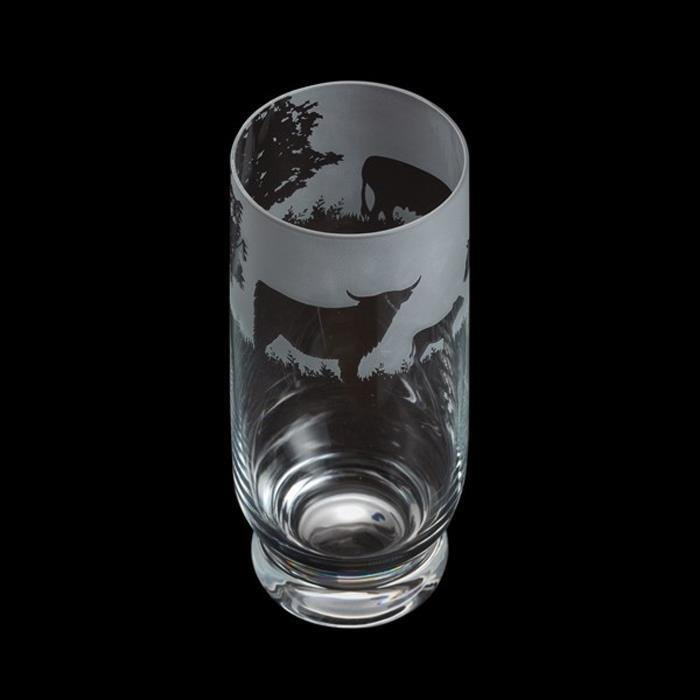 Aspect Highland Cattle Cow Highball Glass