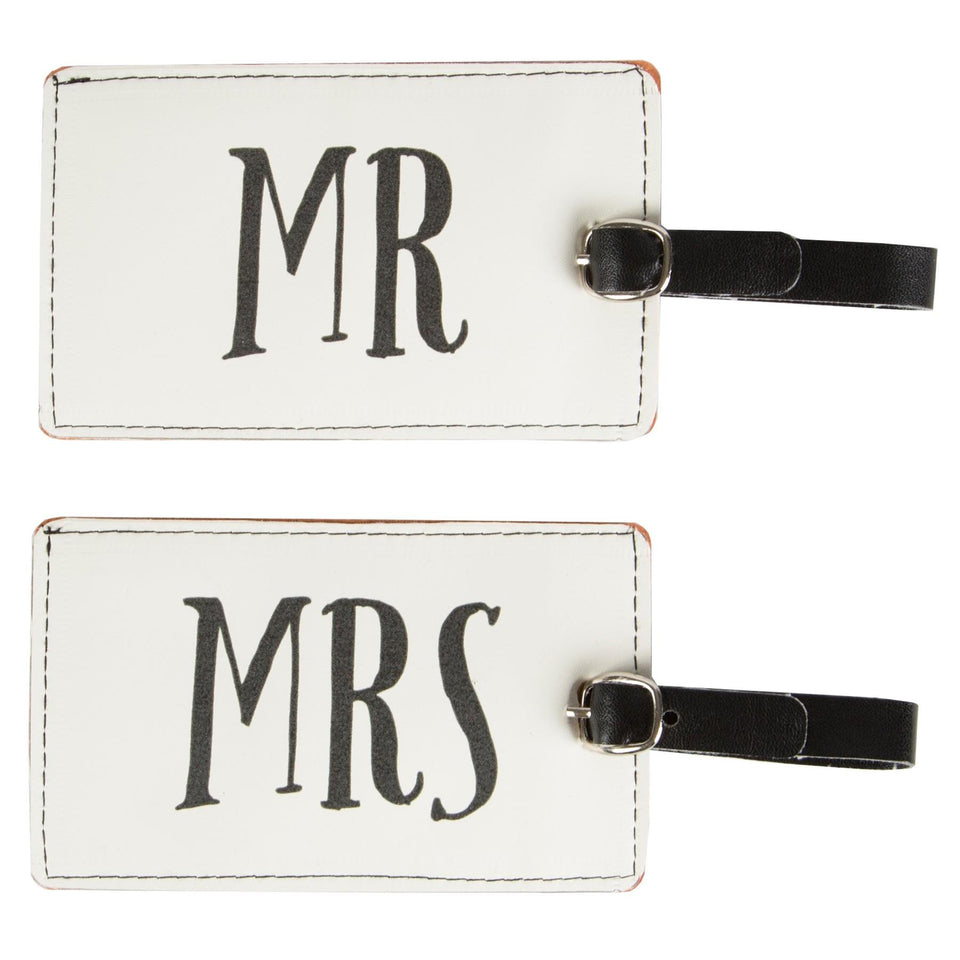 Mr & Mrs Luggage Tag Set