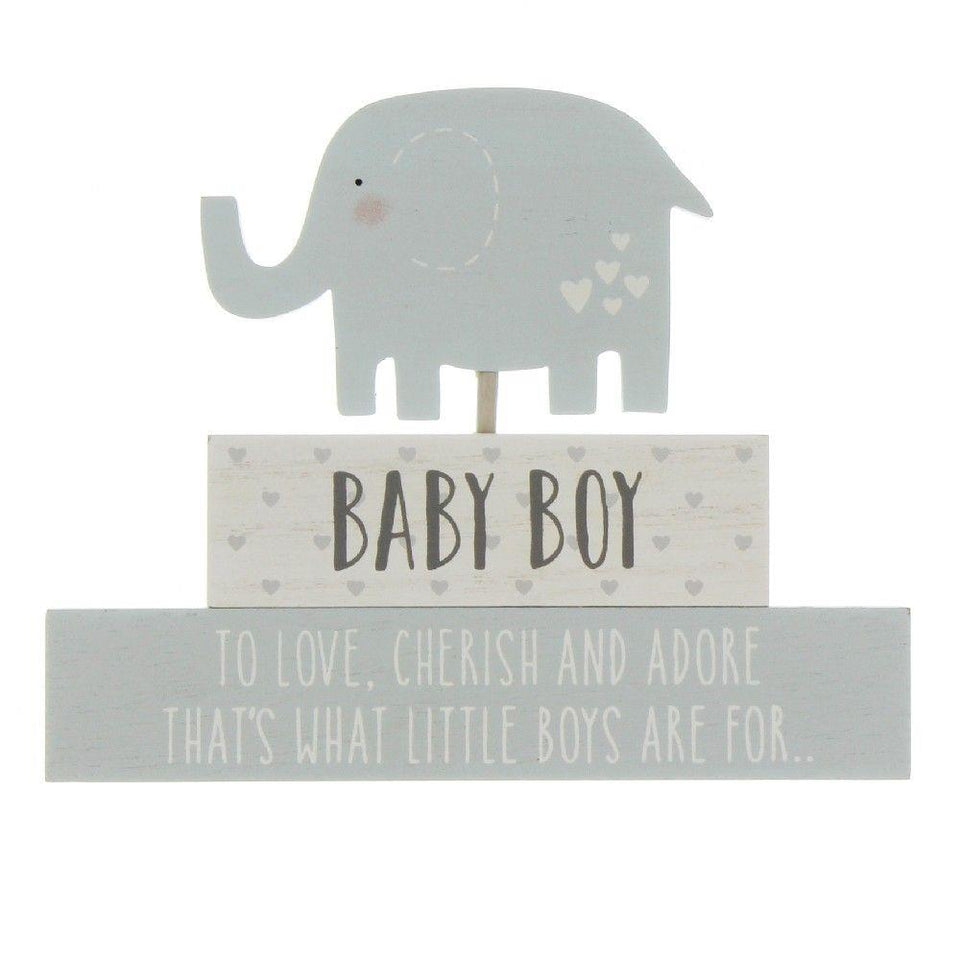Baby Boy Petit Cheri Stacked Blocks
