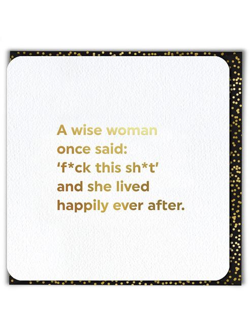 A Wise Woman Card