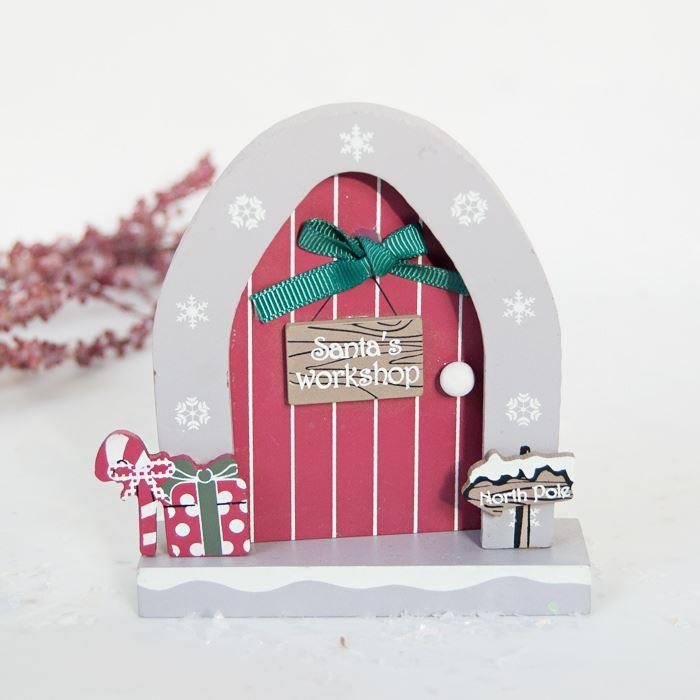 Santa's Workshop Door Decoration