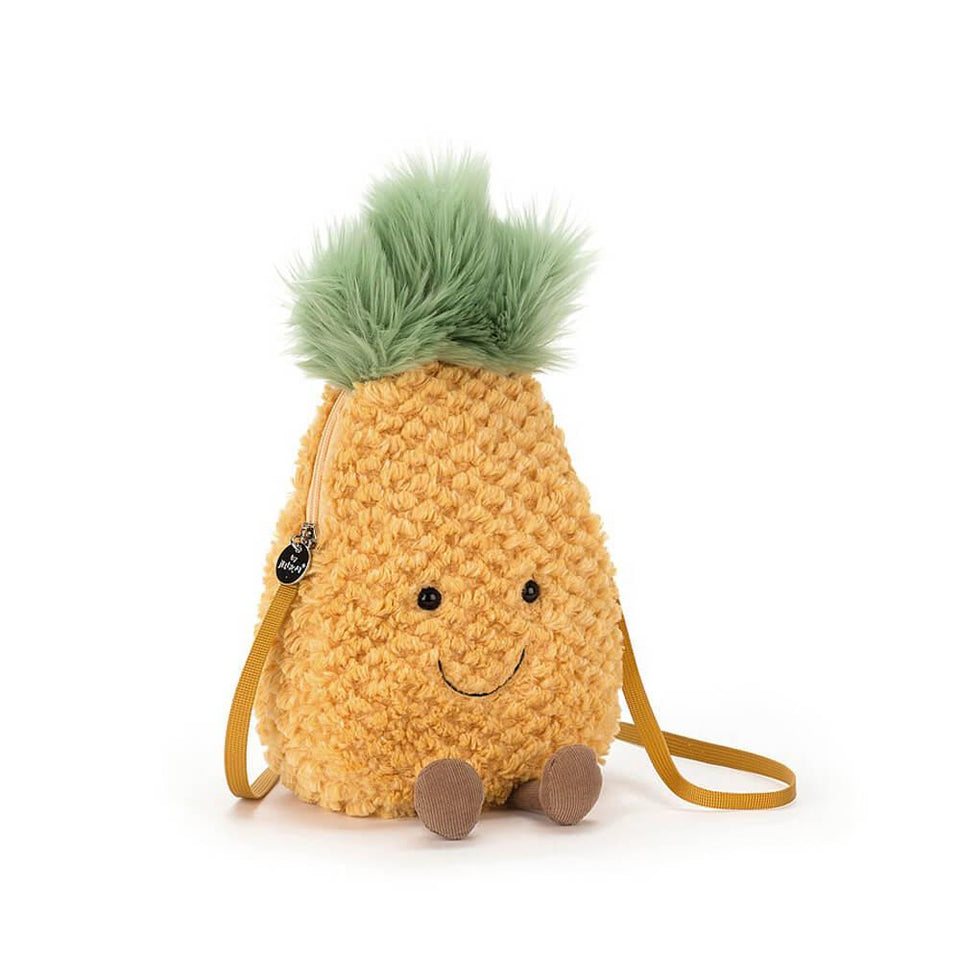 Amuseable Pineapple Plush Bag with Strap