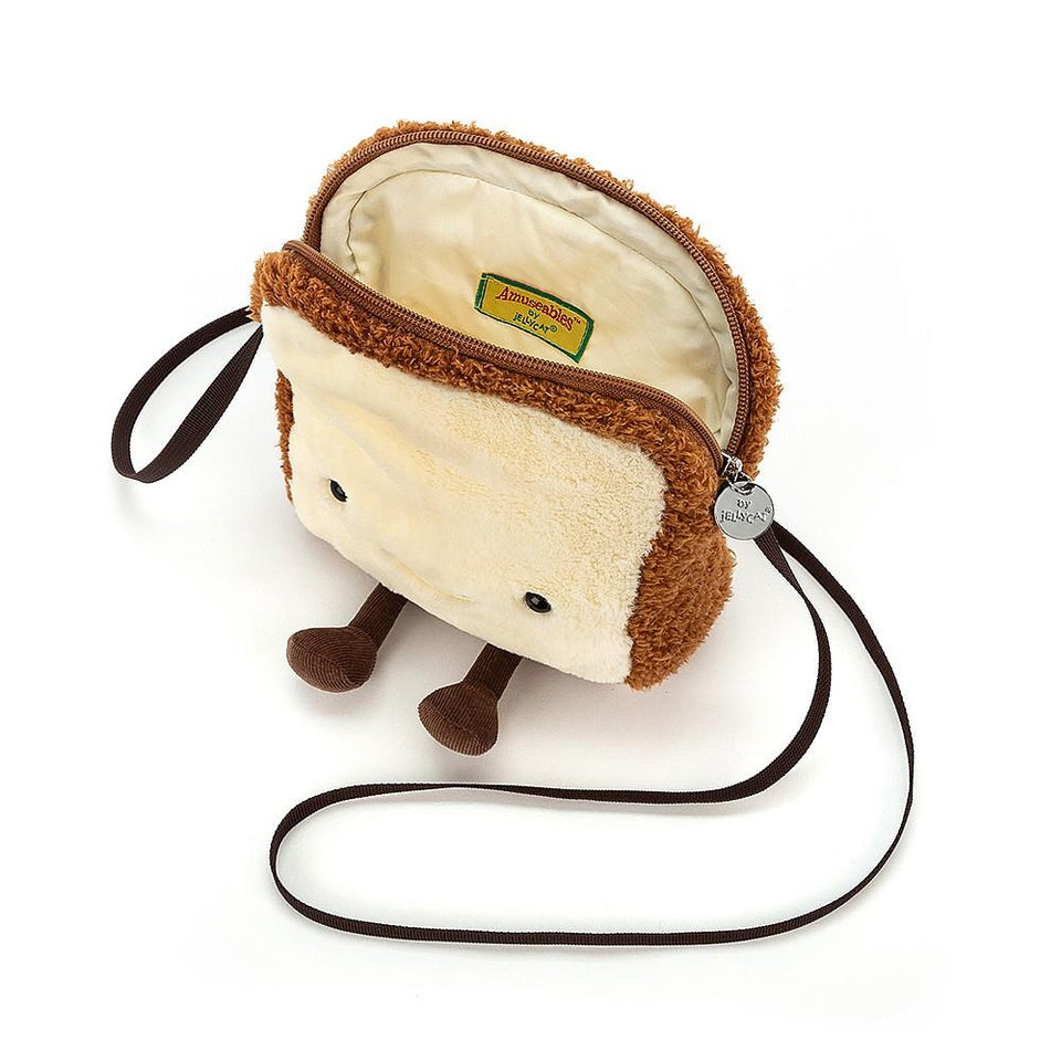 Amuseable Toast Soft Toy Bag