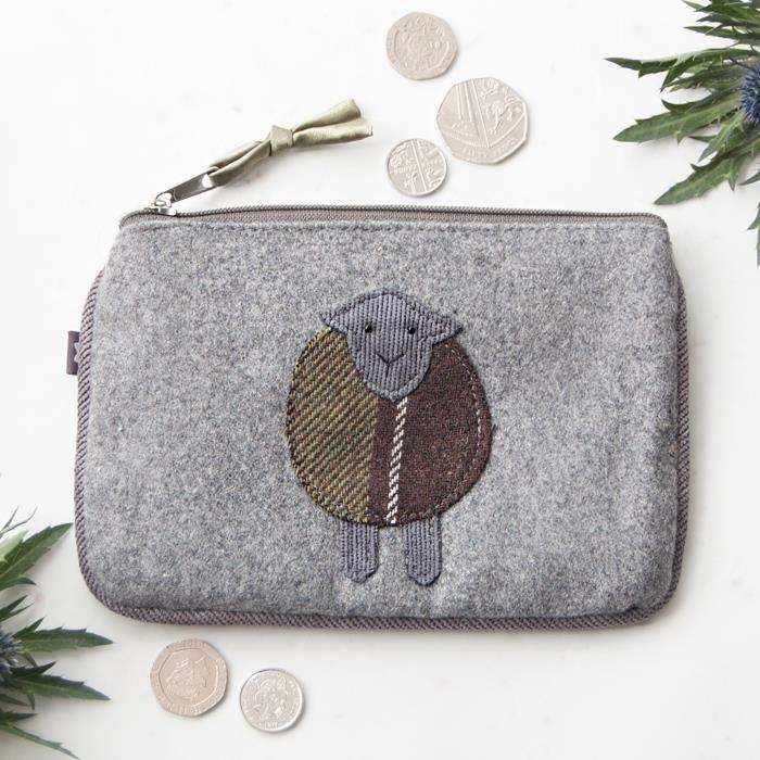Grey Sheep Applique Juliet Purse