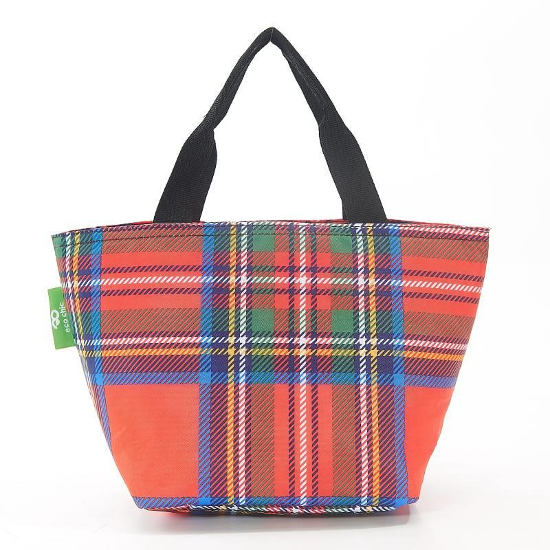 Red Tartan Lunch Bag