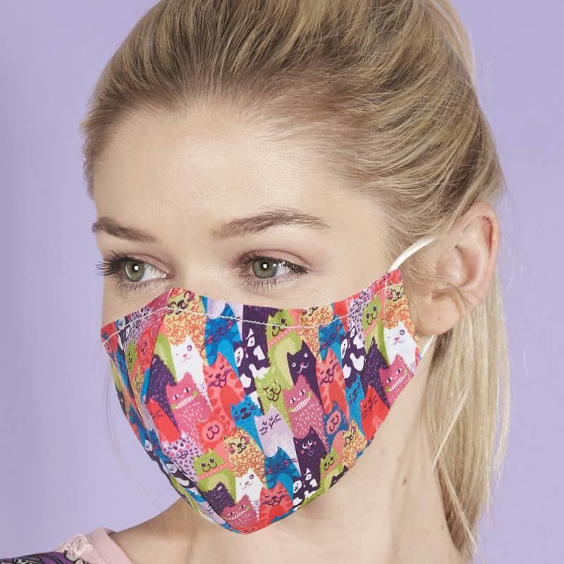 Stacking Cats Reusable Face Cover Mask