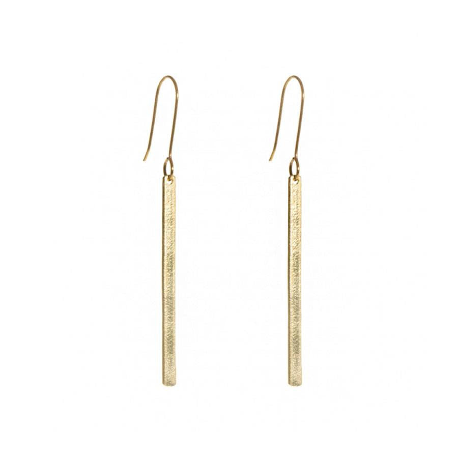Ruthi Brass Bar Earrings
