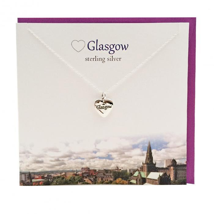 Love Glasgow Heart Pendant Necklace