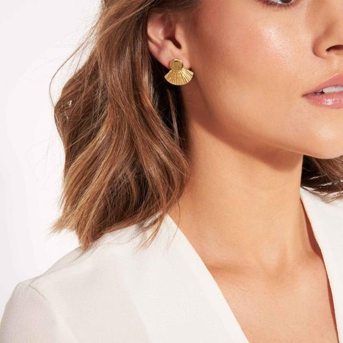 Sun Disc Statement Stud Earrings
