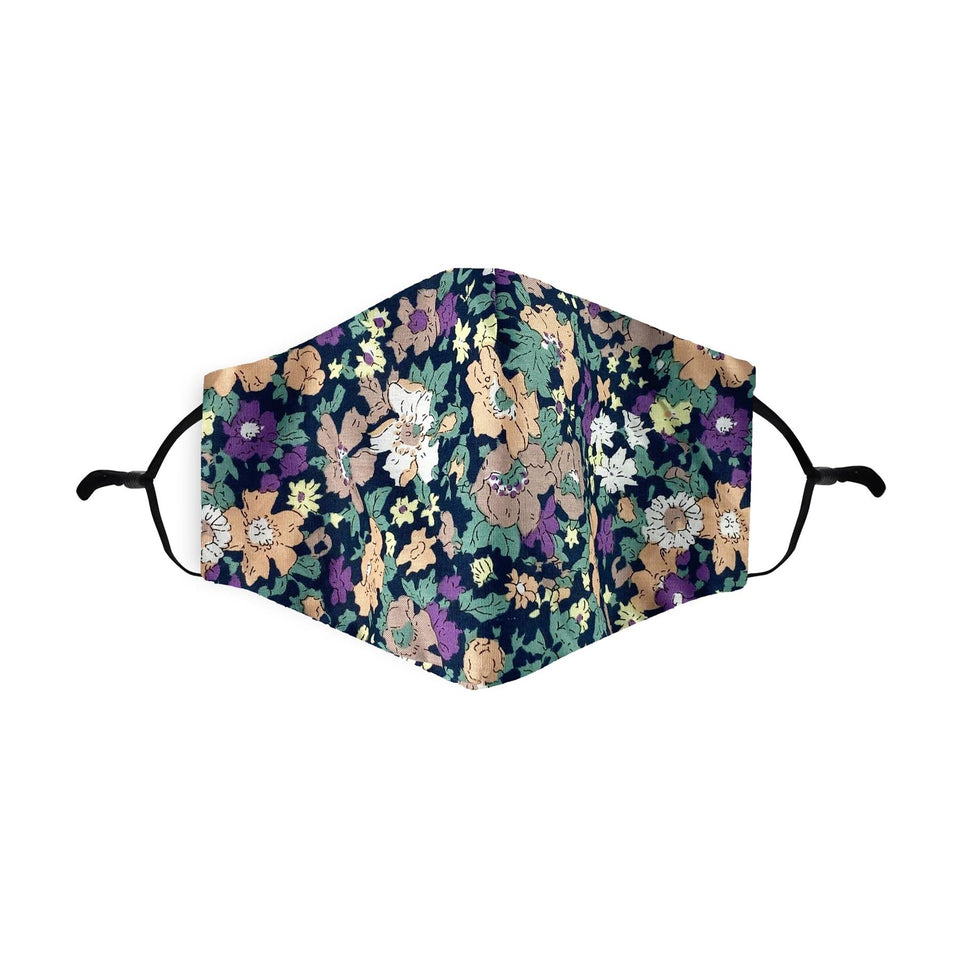 Disty Floral Black Reusable Face Mask